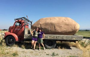 Here's me and Amber with a giant potato
