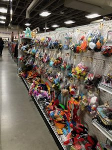 photo of the toy aisle in Goodwill
