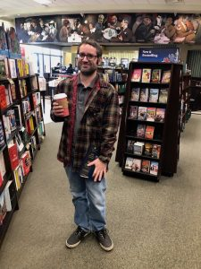 My husband in Barnes and Noble