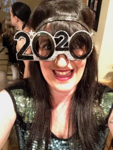 Me in my 2020 glasses on New Year's Eve