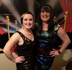Me and my friend Allie in 1920s dress at her New Year's Eve party this week