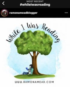 while i was reading book blog logo from instagram