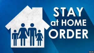 stay at home order graphic