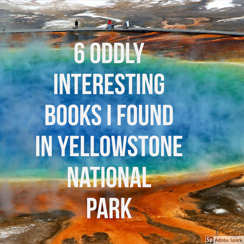 oddly fascinating books i found in yellowstone national park