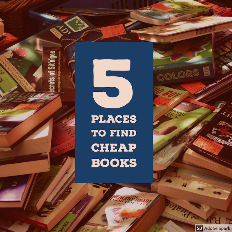 5 places to find cheap books