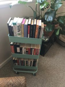 book cart book blogger