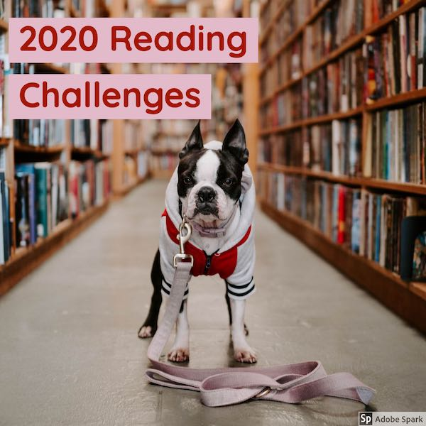 2020 reading challenges title graphic